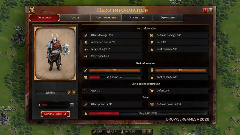 Helden im Browsergame LegendsOfHonor